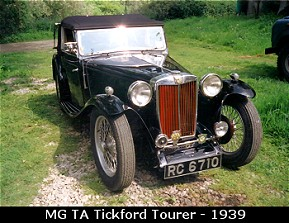 Vintage MG TA Tickford Tourer, 1939
